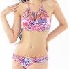 Sexy Floral Print High Waist Swimsuit Bikini Push Up Купальники Женщины Vintage Biquini