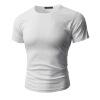 2018 Летняя мужская круглая шея Loose с коротким рукавом, корейская хлопчатобумажная тонкая футболка, спортивный джентльмен Top