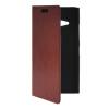 MOONCASE Slim Leather Side Flip Wallet Card Slot Pouch with Kickstand Shell Back чехол для Nokia Lumia 730 Brown синий slim robot armor kickstand ударопрочный жесткий корпус из прочной резины для vivo x9plus