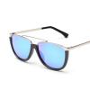 FEIDU мода кошачий глаз солнцезащитные очки женщин Бренд дизайнер половинной рамки зеркальные солнечные очки для женщин Oculos де соль Feminino зеркальные панели в рулонах