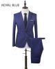 Фото 2018 Groom Tuxedos Лучший мужской костюм Мужские свадебные / вечерние костюмы Groomsman