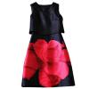 Lovaru ™ печать мини женщин платье бак O-образным вырезом без рукавов для случайного 2015 Новое поступление горячей продажи летних стиле домкрат белак бак 00026 2т