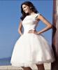 Летнее бальное платье Bateau Prom Short Vintage Lace Свадебные платья для свадьбы на пляже 2016 Интернет-магазин