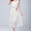 Lovaru ™ 2015 летние новые корейские цветочный принт шифоновое платье женщины в плиссированной рукавов платье пляж платье ostin платье в цветочный принт