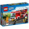 LEGO City Series 5-12 лет пожарная автомашина с лестницами Детские игрушечние блоки 60107 lego city пожарная часть