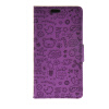 MOONCASE Cute Little Witch Leather Side Flip Wallet Card Holder Stand Pouch ЧЕХОЛДЛЯ LG Magna Purple