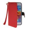 MOONCASE Лич кожи Кожа Флип сторона кошелек держателя карты Чехол с Kickstand чехол для Samsung Galaxy S5 Mini Красный ударопрочный чехол портмоне для samsung galaxy s5 mini g800 на силиконовой основе красный green c