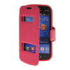 MOONCASE View Window Leather Side Flip Pouch Stand Shell Back ЧЕХОЛ ДЛЯ Samsung Galaxy Trend Lite S7390 / S7392 Hot pink чехол для samsung s7392 galaxy trend partner flip case black