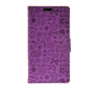 MOONCASE Cute Little Witch Leather Side Flip Wallet Card Holder Stand Pouch ЧЕХОЛ ДЛЯ Huawei Honour 4C Purple boxwave huawei g6310 bamboo natural panel stand premium bamboo real wood stand for your huawei g6310 small