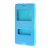 MOONCASE Сторона Флип жесткий борт тонкий кожаный кронштейн Окно чехол для Sony Xperia E3 синий