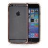 MOONCASE бампер кадр + Мягкие гибкие силиконовый гель ТПУ Оболочка задняя крышка чехол для Apple IPhone 6 Plus Розовый