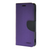 MOONCASE Cross pattern Leather Flip Wallet Card Slot Stand Back чехол для Sony Xperia M4 Purple luxury stand flip