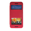 MOONCASE View Window Leather Side Flip Pouch Stand Slim Shell Back ЧЕХОЛДЛЯ HTC One M9 Hot pink mooncase slim hard board leather side flip wallet stand pouch чехолдля htc one m9 red