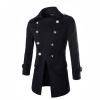 Zogaa мужчины, шерстяные пальто классический двубортный двойной шерсти мужчины шерстяные пальто пальто и шерсти пальто