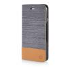 MOONCASE Canvas Design Leather Side Flip Wallet Stand Shell Back ЧЕХОЛДЛЯ Apple iPhone 6 Plus ( 5.5 inch ) Dark Brown icarer wallet genuine leather phone stand cover for iphone 6s plus 6 plus marsh camouflage