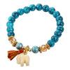 U7 Турции ювелирные изделия из бисера браслеты 2016 для женщин Мода бирюзовый Stone Симпатичные Слон браслет богемского браслеты karmonia браслет из натурального опала