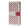 MOONCASE горошек Слот карты Кожаный чехол Чехол Подставка Shell чехол для Apple IPhone 6 (4,7 дюйма) белый розовый чехол