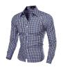 2016 Новый длинным рукавом Мужские рубашки с длинным рукавом мужская Slim Fit рубашка Camisa masculina Повседневная Мужская рубашка платье белого сорочка Homme мужская классическая рубашка dermay slim fit 4xl camisa masculina 6colors dm03241827
