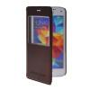 MOONCASE Окно просмотра Кожа Флип сторона Чехол Подставка Оболочка задняя крышка Крышка для Samsung Galaxy S5 Mini Красный