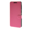 все цены на MOONCASE Ultra thin matte surface Leather Wallet Flip Card Slot Holster Pouch Stand Back чехол для HTC Desire 626 Hot pink