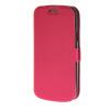 цена на MOONCASE Slim Leather Side Flip Bracket чехол для Samsung Galaxy S4 Mini i9190 Hot pink