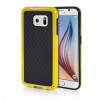 MOONCASE Soft Flexible Silicone Gel TPU Skin Shell Back ЧЕХОЛДЛЯ Samsung Galaxy S6 Yellow embossed tpu gel shell for ipod touch 5 6 girl in red dress