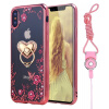 Flower Diamonds Soft TPU Phone Cases for iphone x 8 7 6 5 SE Diamond Luxury Plating Phone Shell with Stand Holder and Sling ru russian for samsung sf411 sf410 laptop keyboard with c shell