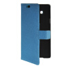 MOONCASE Slim Leather Side Flip Wallet Card Slot Pouch with Kickstand Shell Back чехол для Samsung Galaxy A7 Blue синий slim robot armor kickstand ударопрочный жесткий корпус из прочной резины для vivo x9plus