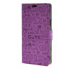 MOONCASE Little Witch Leather Flip Wallet Card Slot Stand Back чехол для Samsung Galaxy S6 Active G890 Purple юбка strawberry witch lolita sk
