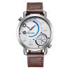 Двойной часовой пояс для мужчин Бизнес Aoalog Кварцевые наручные часы из нержавеющей стали Водонепроницаемый 30M