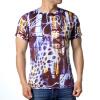 Мужские геометрические выкройки O-образным вырезом 3D-печатные футболки-пуловеры