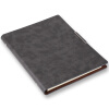 (TRNFA) TB-H307 офис высокого класса ноутбук старший бизнес-ноутбук имитация кожа ретро подвеска ноутбук бизнес-канцелярские принадлежности (серый) 23,5 * 17 см ноутбук