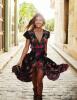 Новые женщины Summer V Neck Vintage Boho Long Maxi Цветочные национальные платья из шифона Платье для вечеринок Цветочные платья