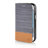MOONCASE Canvas Design Leather Side Flip Wallet Pouch Stand Shell Back ЧЕХОЛДЛЯ Samsung Galaxy J1 Dark Brown mooncase canvas design leather side flip wallet pouch stand shell back чехолдля samsung galaxy s6 edge dark brown
