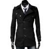КТ&ХФ модные мужские пальто Лацкане пиджака темперамент элегантный дизайн чистый Цвет пальто шерстяное пальто с длинными рукавами куртка