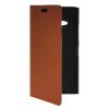 MOONCASE Slim Leather Side Flip Wallet Card Slot Pouch with Kickstand Shell Back чехол для Nokia Lumia 730 Brown защитная пленка для мобильных телефонов 3pcs nokia lumia 730 735