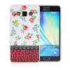 MOONCASE Flowers Soft Flexible Silicone Gel TPU Skin Shell Back ЧЕХОЛДЛЯ Samsung Galaxy A5 embossed tpu gel shell for ipod touch 5 6 girl in red dress