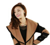 Женщины Леди мода Кабо знаменитостей куртки и пиджаки-большой лацкане шерстяное пальто топы пояса