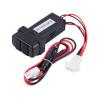 Новые порты Dual USB приборной панели быстрого зарядного устройства 5V для Mitsubishi автомобиль полироль для приборной панели atas plak amarena 400 мл