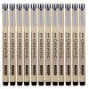 Золотые годы (Genvana) G-0951 0.1MM- черное перо иглы (12 палочки)
