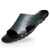 2018 Летний новый стиль моды кожаные сандалии скольжения большой размер сандалии и тапочки пляж обувь ботильоны кожаные limou2