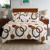 (Byford) Постельные принадлежности Текстиль для дома Twill Twill Отпечатанные четырехместные постельные комплекты для хлопка Увеличенная двуспальная кровать 1,5 / 1,8 м постельные принадлежности new brand 4pcs 100% twill be 42301