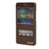 MOONCASE Huawei Ascend P8 Lite чехол Double Window View Leather Flip Bracket Back чехол Cover wine mooncase чехол для huawei ascend p8 lite view window leather flip bracket back cover wine 01