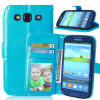 MOONCASE чехол для Samsung Galaxy S3/S3 Mini / S4/S4 Mini /S6 /S6 edge/ S6 edge Plus Фолио Флип Слот кожаный бумажник карты и складная подставка Feature крышки мешка защитная пленка luxcase для samsung galaxy s4 mini