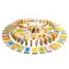 MING TA A8155 Домино для раннего образования 100 кусков Качественные деревянные кубики для детей развивающие деревянные игрушки кубики животные
