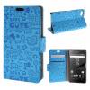 MOONCASE Sony Xperia Z5 Compact ( Z5 Mini ) ЧЕХОЛДЛЯ Leather Flip Wallet Card Slot Bracket Back Blue для sony xperia z5 compact стекло экран протектор фильм для sony xperia z5 compact z5 mini e5803 e5823 стекло экран прот