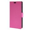 MOONCASE Простой стиль кожаный бумажник флип карты отойти чехол для Huawei Ascend Y625 ярко-розовый