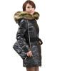 женский зимний длинный балахон тонкий вниз пальто теплые пуховые стеганые куртки меховой воротник куртки женские стеганые купить оптом