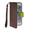 MOONCASE Litch Skin Leather Side Flip Wallet Card Slot Pouch Stand Shell Back ЧЕХОЛДЛЯ Apple iPhone 6 ( 4.7 inch ) Brown mooncase canvas design leather side flip wallet stand shell back чехолдля apple iphone 6 plus 5 5 inch light brown
