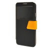MOONCASE Galaxy Note 3 Neo N7505 ,Window Design Leather Side Flip ЧЕХОЛ ДЛЯ Samsung Galaxy Note 3 Neo N7505 Black Yellow printio чехол для samsung galaxy note